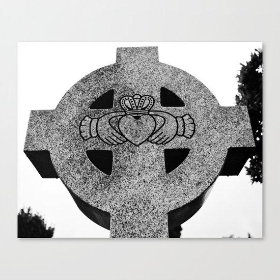 Claddagh cross Canvas Print