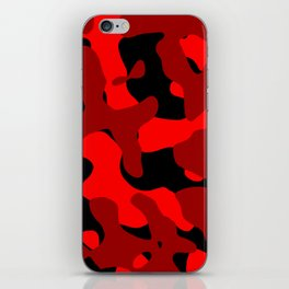Black and Red Camo abstract iPhone Skin