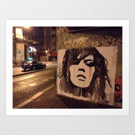 Graffiti Girl Paris Art Print