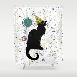Chat Noir  Party Countdown Shower Curtain