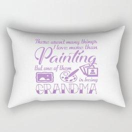 Painting Grandma Rectangular Pillow