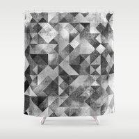 matrix Shower Curtains featuring moon matrix by Kingu Omega