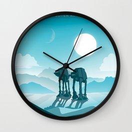 Hoth. Vintage illustration poster art. Wall Clock