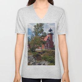 Eagle Harbor Lighthouse Unisex V-Neck