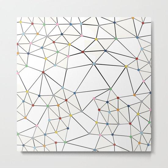 Seg with Color Spots White Metal Print