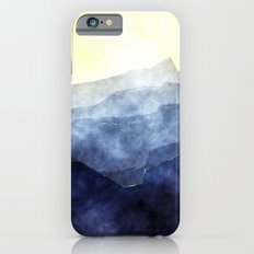 Sun behind the mountains - Modern abstract triangle pattern Slim Case iPhone 6s
