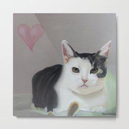 Kitty the Cat Metal Print