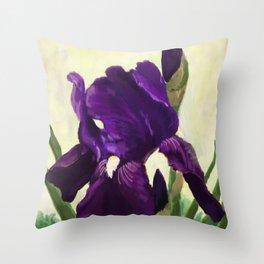 Purple Iris DP150530 Throw Pillow