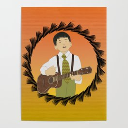 Ukulele musician Poster