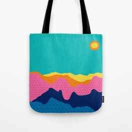 Over The Sunset Mountains III Tote Bag