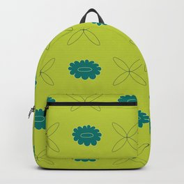 Floral pattern - green and teal Backpack