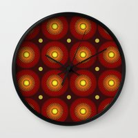 brown Wall Clocks featuring brown by sustici