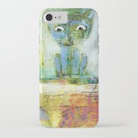 fishing iPhone & iPod Cases featuring fishing by Agnes Laczo