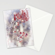 Frosted Christmas Stationery Cards