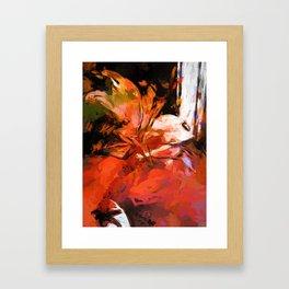 Graffiti Lily Orange Pink Splatter Framed Art Print