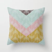 arrows Throw Pillows featuring arrows by Emma S