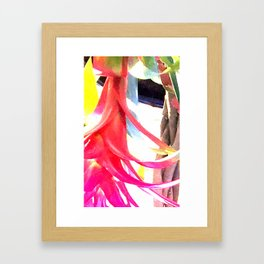 FLAMINGO FLORAL Framed Art Print