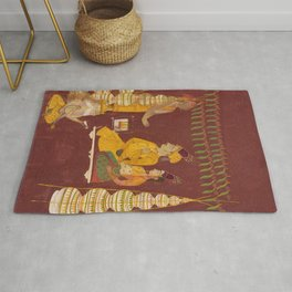 Wedding Ceremony with Brahma in Attendance Rug