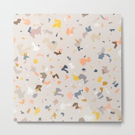 Lively Colorful Terrazzo Pattern Metal Print