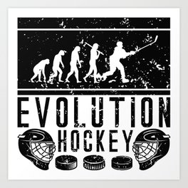 Evolution Hockey Art Print