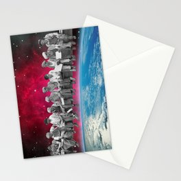 Lunch atop the Earth Stationery Cards