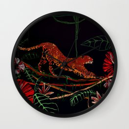 Jungle Cat, Leopard Wall Clock