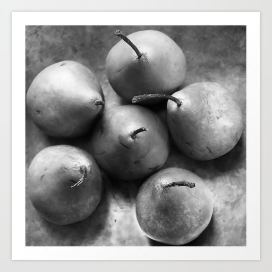 Pears in a Silver Bowl, No. 1 Art Print