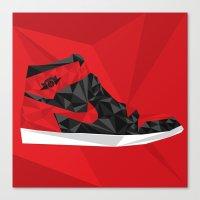 """air jordan Canvas Prints featuring Air Jordan 1 """"Banned"""" by Sam Londono"""