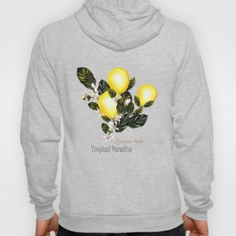 Citrus paradise. Tropical pattern with lemons Hoody