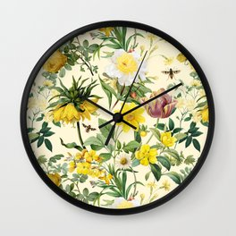 YELLOW GARDEN Wall Clock