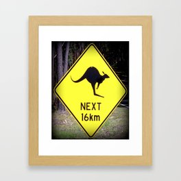 Beware Sign Framed Art Print