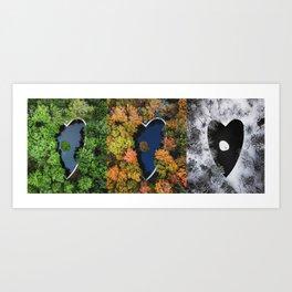 Seasonal Love Art Print