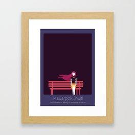 Found In Translation - Iktsuarpok Framed Art Print