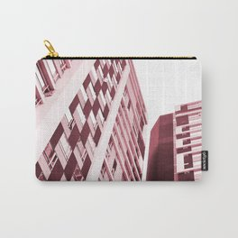 Burgundy Building Carry-All Pouch