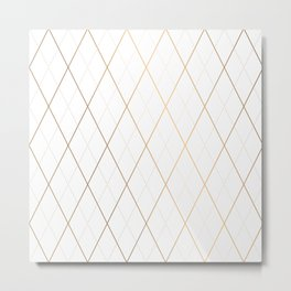 Abstract Gold Geometric Pattern Art Deco Style Metal Print