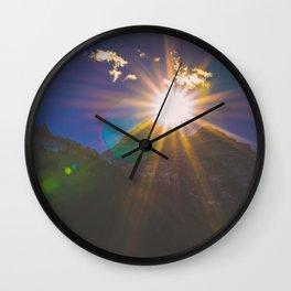 Sunset at Maroon Bells Wall Clock