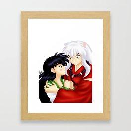 InuYasha Love Framed Art Print