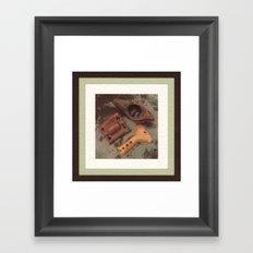 Iron, Wood, Copper Framed Art Print