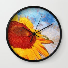 Hello Sun Sunflower  Art Wall Clock