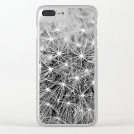 Dandelion flower head composed of numerous small florets Clear iPhone Case