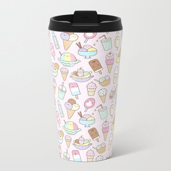 I love Ice Cream Metal Travel Mug