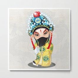 Beijing Opera Character LiuBei Metal Print