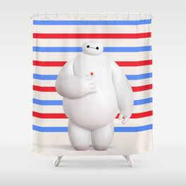 Baymax Big Hero 6 Shower Curtain