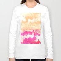 gradient Long Sleeve T-shirts featuring Pastel Gradient by Jenna Davis Designs