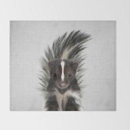 Skunk - Colorful Throw Blanket