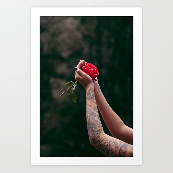Rose Tattoo Art Print