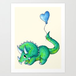 Balloon for Baby (Boy) Art Print