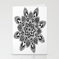 zentangle Stationery Cards featuring Zentangle by Cady Bogart