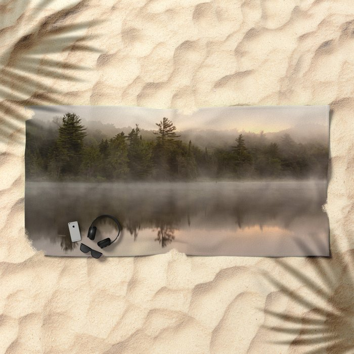 misty reflections Beach Towel