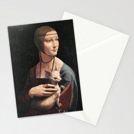 dama col chihuahua Stationery Cards